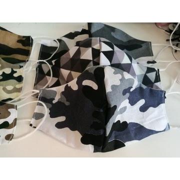 maseczki  bawelniane profilowane dwuwarstwowe lub