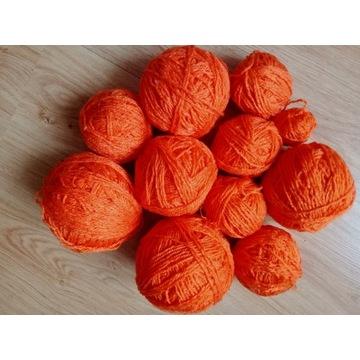 Włóczka akryl pomarańczowa na Halloween 270 g