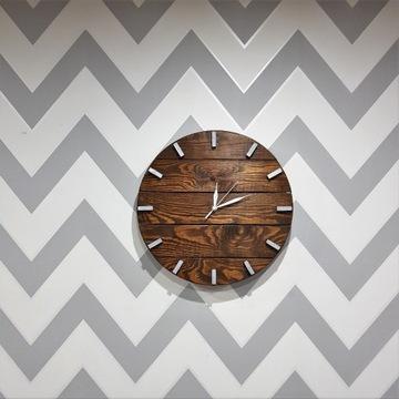 DiO Zegar ścienny z drewna handmade palisande 38cm