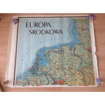 Europa Środkowa wojskowe mapy sztabowe 20 arkuszy