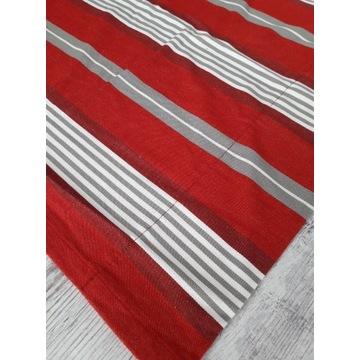 Hemtex zasłony świąteczne czerwone pasy 126/211