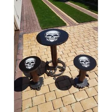 Komplet kawowo-drinkowy Skull Industrial DIY