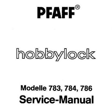 Overlock Pfaff 7xx Hobbylock INSTRUKCJA SERWISOWA