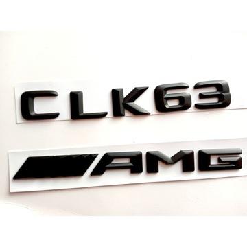 Mercedes CLK 63 AMG  W209 - emblemat czarny mat