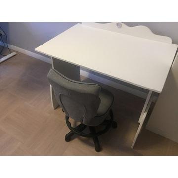 Biurko Up 100 Mouse White + krzesło Petit WK+P