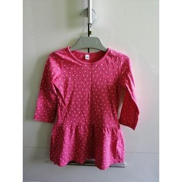 Sukienka dziewczęca różowa kropki