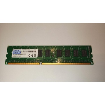 Pamięć RAM 8GB ECC UDIMM DDR3L PC3-12800 CL11 NAS