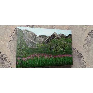 Obraz Góry ręcznie malowany