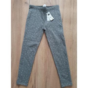Szare spodnie/ legginsy 6-7 lat