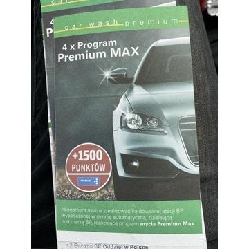 Karnet na myjnie BP 4x program premium MAX