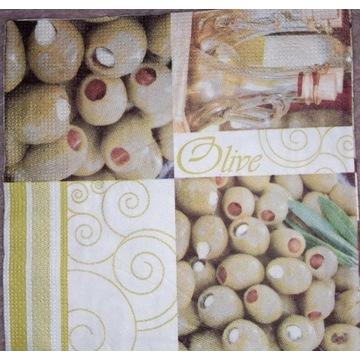 Serwetka decoupage 2 szt, oliwki, jedzenie kuchnia