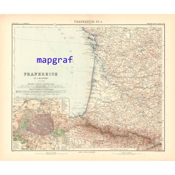 FRANCJA PD-ZACH oryginalna mapa z 1906 roku 29