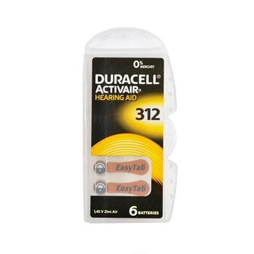 Baterie do aparatu słuchowego DURACELL 312
