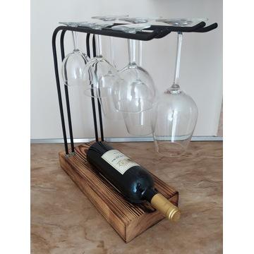 Stojak wieszak na kieliszki do wina
