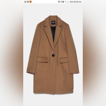 Płaszcz ZARA camel S brązowy 36 nowy z metkami