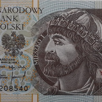 Banknot 10zł 1994 r. seria YF UNC /Ser. zastępcza/