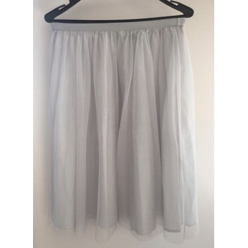 Spódnica tiulowa Zara w kolorze szaro-gołębim