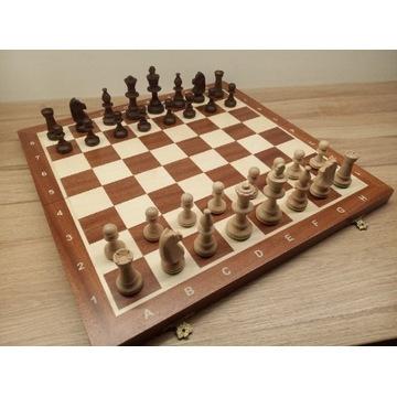 Drewniane szachy w kasetce Tournament 5 turniejowe