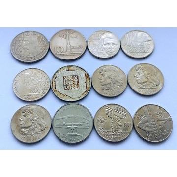 Zestaw PRL 12 monet Mapka Mennica Kościuszko 1971