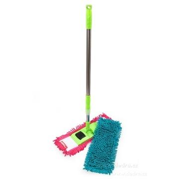 SASANKA mop płaski zielono-turkusowo-różowy