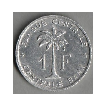 Kongo Belgijskie  1 frank  1960   palma