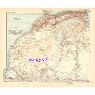 SAHARA MAROKO ALGIERIA mapa z 1906 roku 69