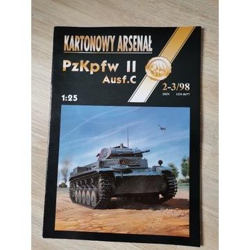 PzKpfw II ausf c Kartonowy Arsenał 1/25 + bonus