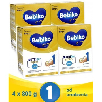 Bebiko NutriFlor 1 Mleko modyfikowane 4 x 800g