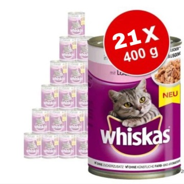 Karma dla kotów whiskas 21x400g mix smaków