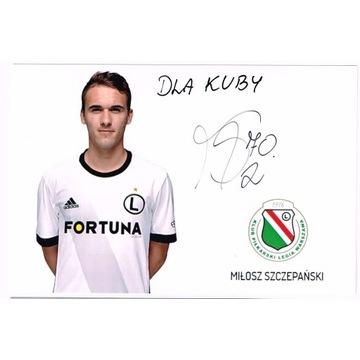 Miłosz SZCZEPAŃSKI Legia Warszawa autograf