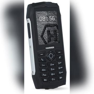 Telefon Hammer  H 3+ czarno-srebrny