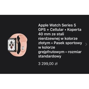 Apple Watch seria 5 +  Cellular