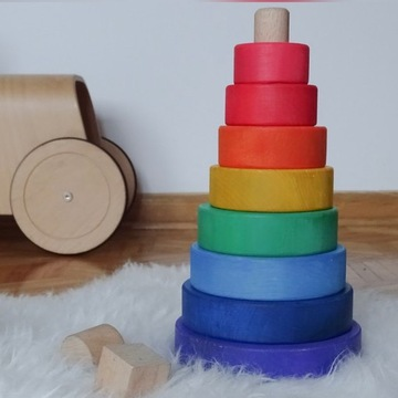 Piramida drewniana- Rainbow
