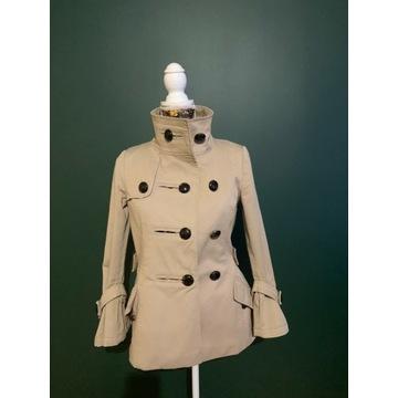 Beżowy płaszczyk Zara S