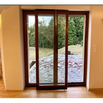 Okno drewniane tarasowe