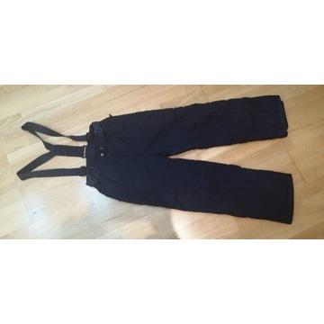 Spodnie narciarskie 156 cm ocieplane, szelki