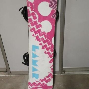 Snowboard Lamar + wiązania burton 8-10 lat