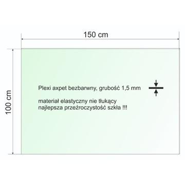 Plexi bezbarwna pleksa axpet płyta 150x100