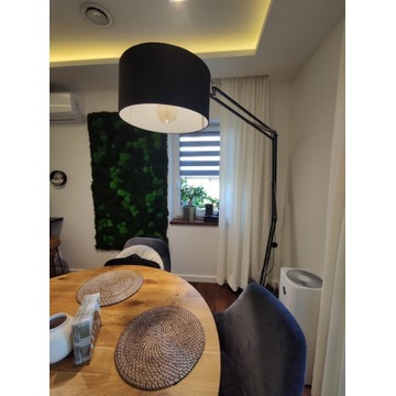 Lampa podłogowa, podstawka z marmuru, duża