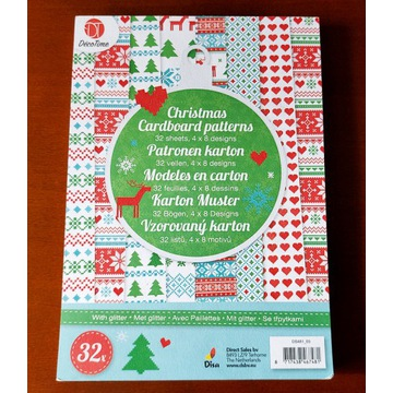 Blok papierów świątecznych-wzór skandynawski,renif