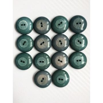 Guziki od płaszcza, 25mm, turkusowe, zielone