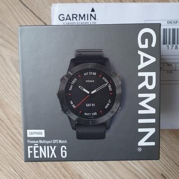 Smartwatch GARMIN Fenix 6 sapphire NOWY GW24 plomb