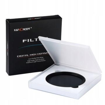 K&F CONCEPT Filtr ND szary 67mm FADER ND2ND400