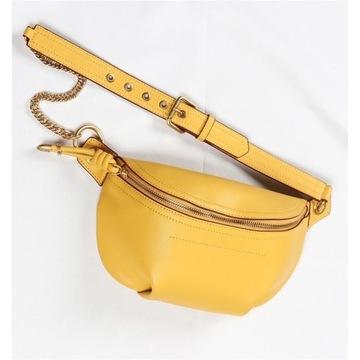 Skórzana torebka nerka crossbody na ramię