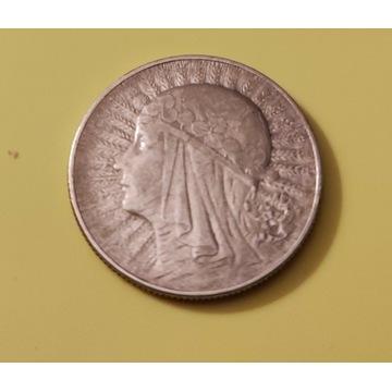 5 złotych - GŁOWA KOBIETY - 1933 - srebro