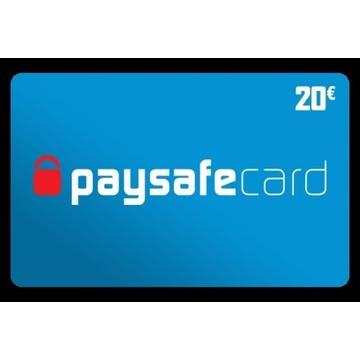 Paysafecard 20 euro kod 24/7 €