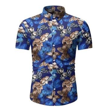 Koszula na wakacje SLIM FIT 2020 motyle L
