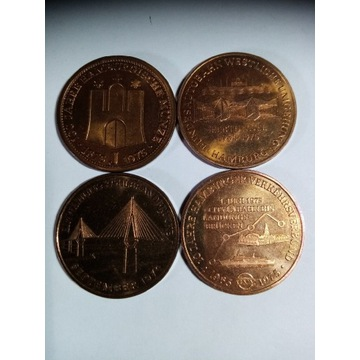 Stare Monety,HAMBURG medal okolicznościowe