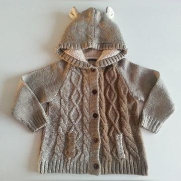 ciepła bluza z kapturem / sweter MISIO rozmiar 110