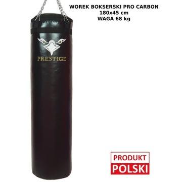 WOREK BOKSERSKI PREMIUM CARBON 180x45 PEŁNY 68KG